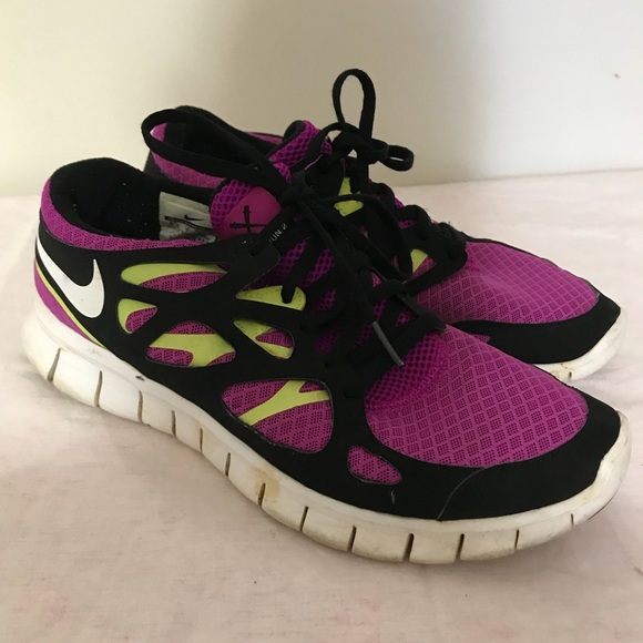 reputable site 0cb6b bbc29 Women s Nike Purple-yellow-black FREE RUN 2 Shoes.  M 5a62a46c3afbbd85c98a8536